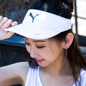 PUMA 慢跑系列 遮陽帽 中空帽 網球帽 男女 白 02146702 熱賣中!
