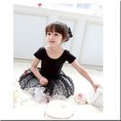☆棒棒糖童裝☆黑色點點裙兒童舞衣 綀功服 紗裙