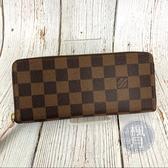 BRAND楓月 LOUIS VUITTON LV N41626 棋盤格 拉鍊 長夾 皮夾 錢包