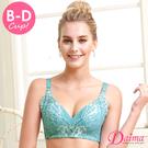 內衣 立體撐托(B~D)全方面完美包覆蕾絲內衣 綠色【Daima黛瑪】