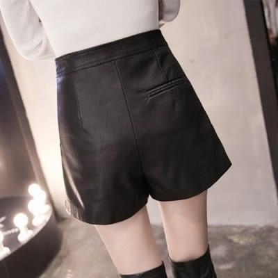 皮革短裙-時尚秋冬潮流百搭女裙子2色73kj39【巴黎精品】