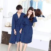 睡袍男士夏薄款美容院浴袍女夏性感酒店浴衣情侶睡衣可愛春秋 雙十二85折