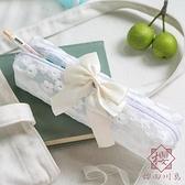小雛菊筆袋女文具盒蝴蝶結文具袋日系【櫻田川島】