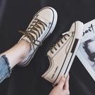 帆布鞋 2021年春季小白鞋女學生春秋新款帆布鞋ulzzang韓版百搭板