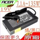 ACER 19V,7.1A 變壓器(原廠)-宏碁 135W,V15, V17,VN7-591G,VN7-791G,VN7-592G,VN7-792G,1000,2000,Z5,Z3