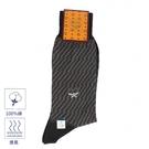 MCM斜紋刺繡LOGO紳士襪(黑色)980285