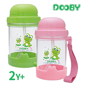 大眼蛙 DOOBY 新彈跳吸管水壺330cc (綠色/粉色) D4291 好娃娃