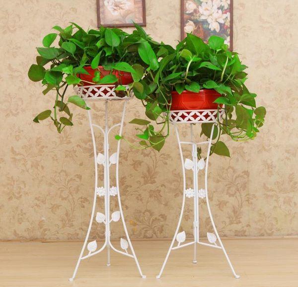 歐式加厚鐵藝花架多層客廳落地陽臺折疊花架綠蘿花架子
