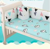 純棉嬰兒床圍四季通用床上用品寶寶床護欄兒童床防撞床圍可拆洗 藍嵐