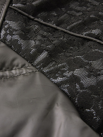 BOBSON 女款蕾絲貼合羽毛外套(34116-88)