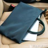 公事包 手提文件袋A4拉鏈袋防水公文包男女士商務辦公會議袋資料袋電腦包 寶貝計畫