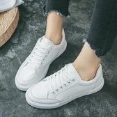 春季小白鞋女新品百搭韓國韓國學生平底帆布女鞋白色休閒板鞋『鹿角巷』