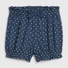 Gap女嬰可愛波點鬆緊腰針織短褲543704-混合海軍藍