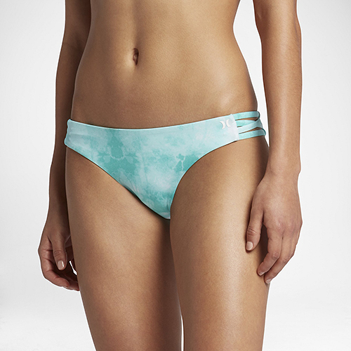 Hurley QUICK DRY TIE DYE SURF BOTTOM 比基尼褲-綠(女)