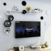 墻上置物架掛墻客廳電視背景墻臥室墻壁掛免打孔墻面裝飾創意格子  LX 宜室家居