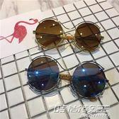 男童眼鏡潮男兒童太陽鏡男孩眼睛圓框時尚兒童眼鏡墨鏡太陽鏡個性     時尚教主