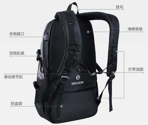 旅行背包雙肩包男士大容量游旅