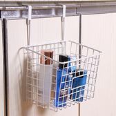 掛式抽口收納籃 掛籃 置物籃 調味料架 日式鐵藝家居 門背式 可抽式 收納籃【Q253】生活家精品