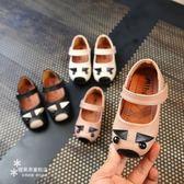 兒童女鞋皮質鞋包頭卡通寶寶鞋子軟底公主單鞋【快速出貨好康八折】
