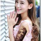 花臂紋身貼紙  QSC033  美女與惡魔   日韓系水轉印紋身貼紙  想購了超級小物