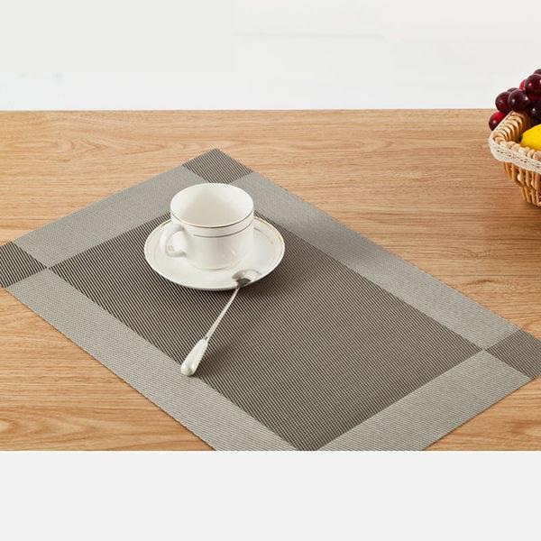 PUSH!餐具用品隔熱80度西餐墊防滑餐墊餐桌墊子杯墊B款2入 E52