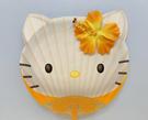 【震撼精品百貨】Hello Kitty 凱蒂貓~凱蒂貓 HELLO KITTY扇子-立體扶桑花#70381