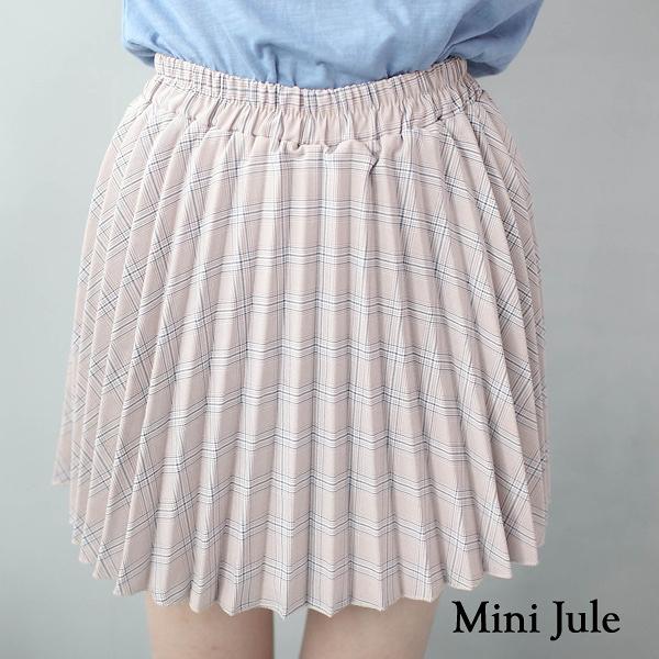 褲裙 學院風格紋百摺短裙(粉) 小豬兒 Mini Jule【KUC81000503】現貨