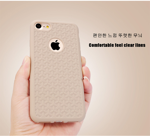 【世明國際】超薄矽膠全包 iPhone 7 plus 立體 斜紋 鏡頭加高 邊緣加高 手機殼 保護套 照型質感