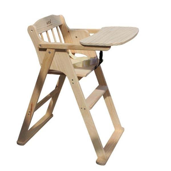 兒童餐椅 兒童餐椅實木可折疊椅子酒店餐廳飯店專用bb櫈木質多功能寶寶椅【快速出貨好康八折】