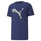 Puma 男 藍色 短袖 上衣 基本系列 運動 休閒 棉質 T恤 運動休閒 短袖 52015012