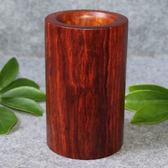 紅木筆筒 花梨木大果紫檀木雕擺件工藝品 收納筒茶具筒   LannaS