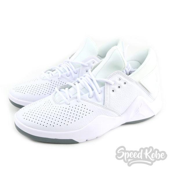 NIKE Jordan Flight Fresh PREM 全白 低筒 籃球鞋 男 AH6462-100☆SP☆