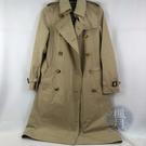 BRAND楓月 BURBERRY 巴寶麗 經典 淺色 卡其風衣 格紋內裡 長版 大衣 外套 #UK4