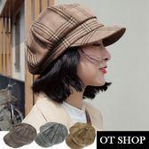 OT SHOP 帽子 八角帽 貝雷帽 畫家帽 線條精品配色 穿搭配件 商品實拍實穿 現貨3色 C2047