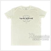COACH黑字印花LOGO花朵刺繡設計純棉短袖T恤(米白)