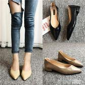 中跟鞋 新款時尚淺口尖頭單鞋奶奶鞋低跟粗跟懶人鞋一腳蹬女鞋子  茱莉亞嚴選