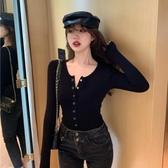特價限購 針織衫女秋季新款爆款氣質修身顯瘦百搭長袖黑色打底衫上衣