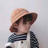 兒童漁夫帽春秋韓國2019新款女童盆帽夏季男童防曬帽大沿遮陽帽子