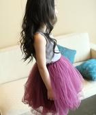 女童半身裙網紗公主裙童裝中大童兒童短裙四季百搭網紗 洛小仙女鞋