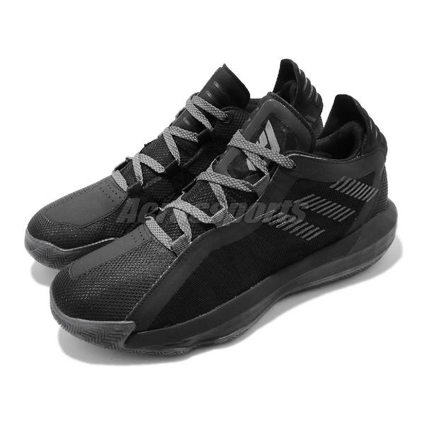 adidas 籃球鞋 Dame 6 GCA Lights Out 黑 灰 男鞋 Damian Lillard 運動鞋【PUMP306】 FV5575