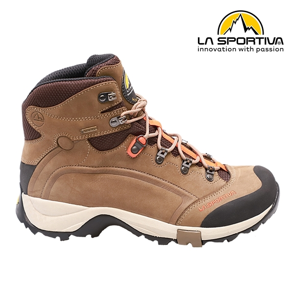 【LA SPORTIVA】TYPHOON NABUCK GTX 防水透氣牛皮中筒健行登山鞋 咖啡 男款 #577