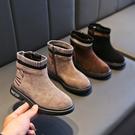 女童靴子2019秋季新款韓版反絨面中筒靴百搭女孩公主鞋加絨馬丁靴