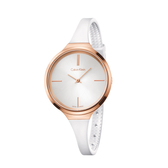 Calvin Klein CK經典優雅橡膠錶帶腕錶(K4U236K6)34mm