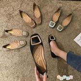 【免運快出】 豆豆鞋 單鞋女鞋子奶奶平底晚晚秋季新款百搭新款黑色仙女豆豆鞋秋款 奇思妙想屋