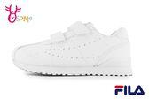 FILA 中大童 運動鞋 休閒簡約 機能鞋 輕量慢跑鞋 O7687#白色◆OSOME奧森鞋業