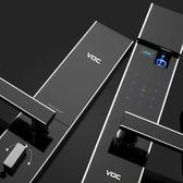 VOC電子鎖RX8108大門電子鎖 指紋鎖-鋼琴鏡面黑