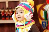 2013冬款~韓國lemonkid保暖小兔子兒童毛線球球帽+圍巾 寶寶套裝《生活美學》