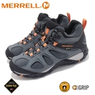 【MERRELL 美國 男 YOKOTA SPORT MID GORE-TEX登山鞋 《鐵灰/橘》】ML036229/健行鞋