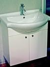 【麗室衛浴】一體陶瓷洗臉盆 OEY03 單孔 65cm+發泡板浴櫃組