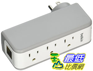 [106美國直購] Belkin 插座 BST300BG Wall Mountable Surge Protector, External